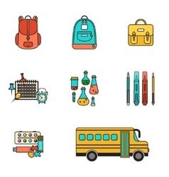 Back School Set vector image