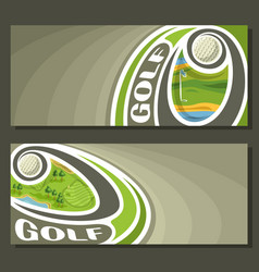 banners for golf vector image