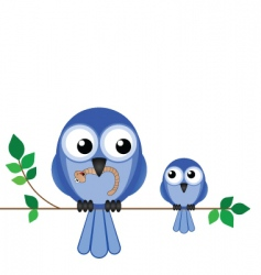 bird mum baby vector image
