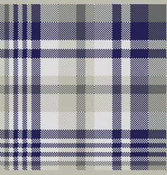 Blue gray check textile seamless pattern vector