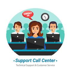 Call center operators flat composition vector