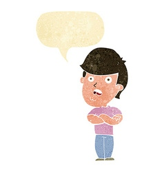 Cartoon disappointed man with speech bubble vector