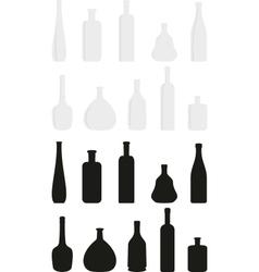 cartoon set of wine bottles vector image