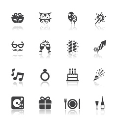 Celebration and party icons vector