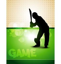 cricket game vector image