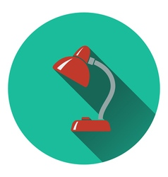 Flat design icon of Lamp in ui colors vector image