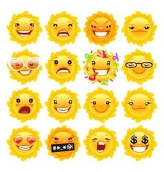 Fun Sun Emojis vector image
