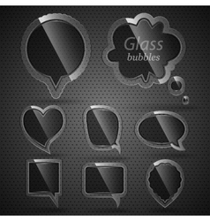 Glass bubbles for speech vector image vector image