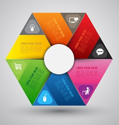 hexagon group template vector image