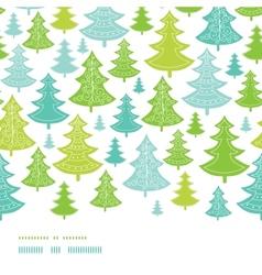 Holiday christmas trees horizontal seamless vector