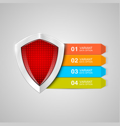 infographics shield protection concept data vector image