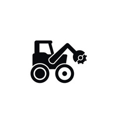 isolated combine-harvester icon tractor vector image