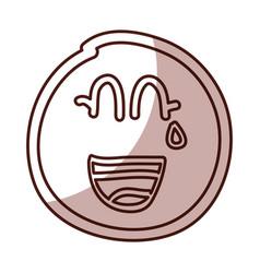 lemon fruit kawaii character vector image vector image