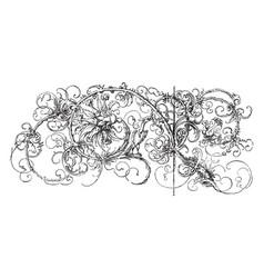 Margin drawing code portion found vintage vector