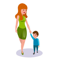 mother and child cartoon vector image