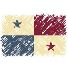 Panamanian grunge flag vector