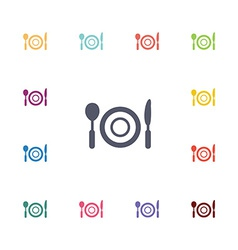 restaurant flat icons set vector image