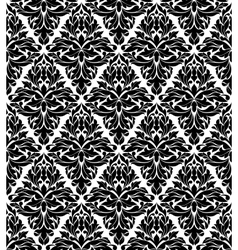 Seamless background in damask style vector image