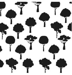 Silhouette trees natural plant forest seamless vector