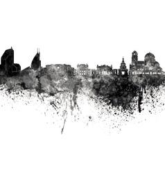 Sofia skyline in black watercolor on white vector