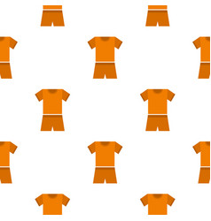 Sport clothes pattern flat vector