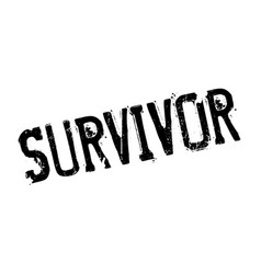 Survivor rubber stamp vector