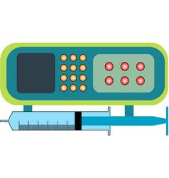 syringe pump icon vector image