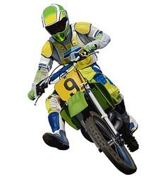 Trials motorcycle vector
