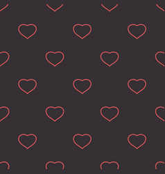 Hearts dark tender background seamless pattern vector