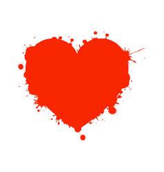 Valentine heart with splashes vector