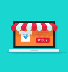 Online shop  flat style on vector