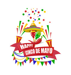 cinco de mayo merry holiday write with a wish vector image