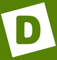 Letter d sign design template element vector