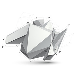 Triangular abstract grayscale 3d shape digital vector