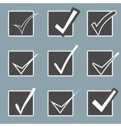 Confirm icons set yes icon check mark icon vector