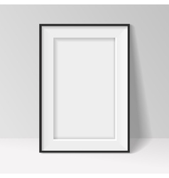 Black frame standing near the walll vector
