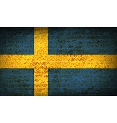 Flags sweden with dirty paper texture vector