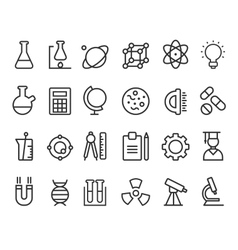 Trendy science icons on white elements vector