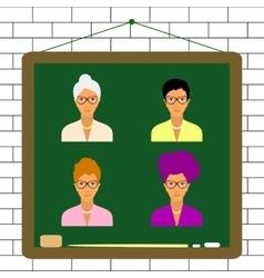 female teacher characters set vector image