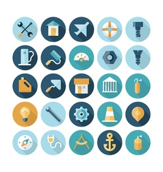 icons flat line industrial vector image