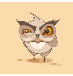Owl is angry vector