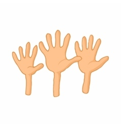 Open empty raising hands to ask for something icon vector