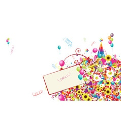 Happy holiday funny background with balloons vector image