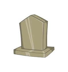 Sepulchral monument icon cartoon style vector