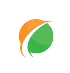 Abstract circle arrow logo image vector