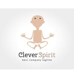 Abstract yoga man logo icon concept logotype vector