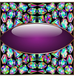 Background round frame vector