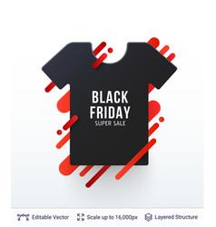 Black friday fashion clothing sale vector