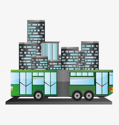 Bus passenger public transport urban background vector