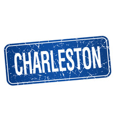 Charleston blue stamp isolated on white background vector